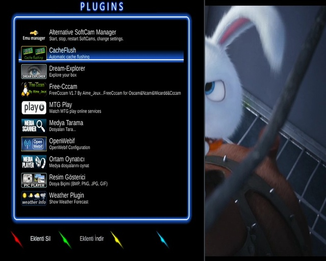 Enigma2 plugin skins my black neon by digiteng packed Lucek