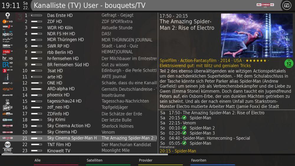 Enigma2 Plugin Skin CerX Full HD all - Update