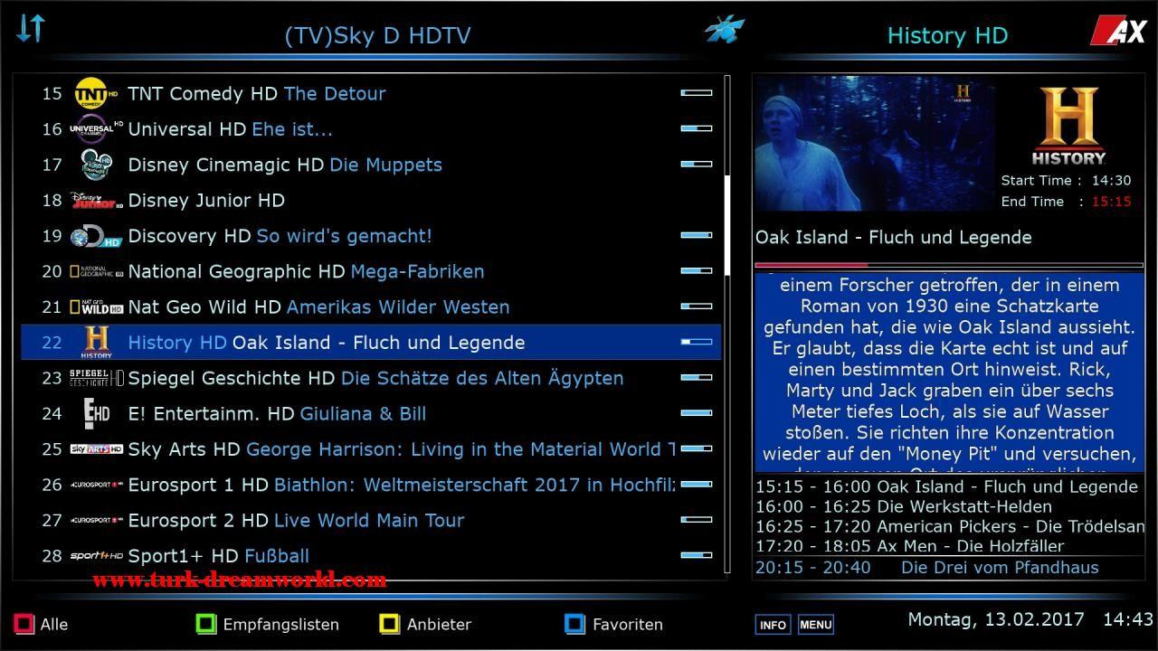Enigma2 plugin skin mediaportal ax-blue full-hd