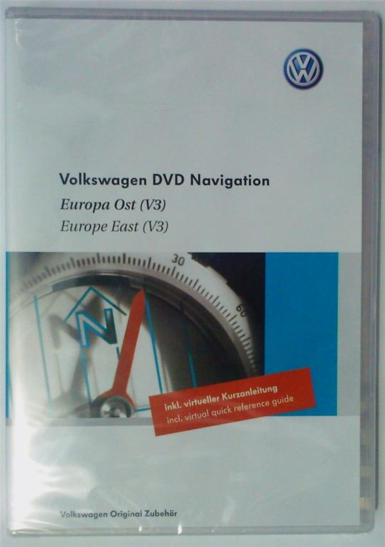 VW Navigations-DVD Osteuropa fuer RNS 510 Multilanguage (1 dvd)